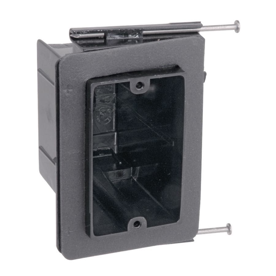 CARLON 1-Gang Black Plastic Interior New Work Standard Switch/Outlet Wall Electrical Box