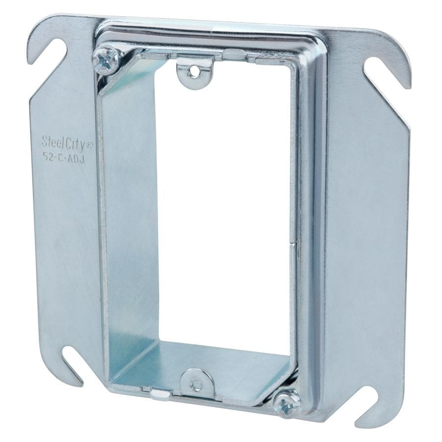 STEEL CITY 1-Gang Metal Square Wall Electrical Box
