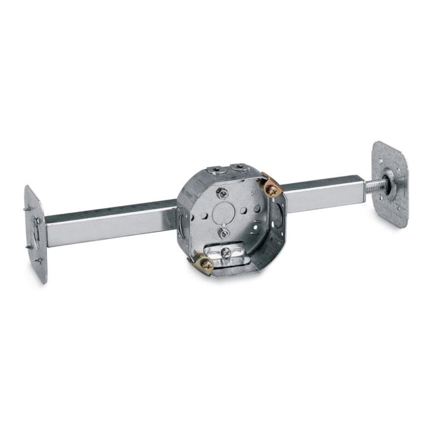 STEEL CITY 15.8-cu in Metal Ceiling Electrical Box