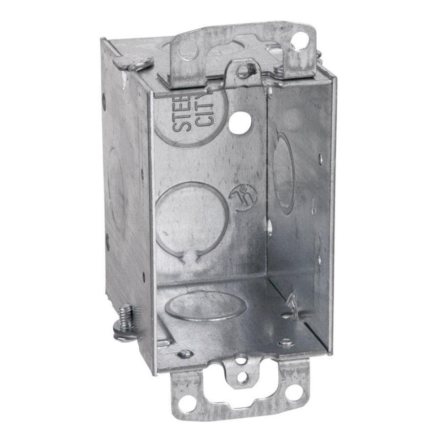 STEEL CITY 12.5-cu in 1-Gang Metal Old Work Wall Electrical Box