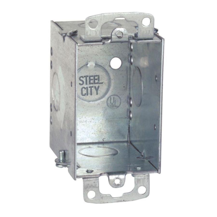 STEEL CITY 14-cu in 1-Gang Metal Old Work Wall Electrical Box