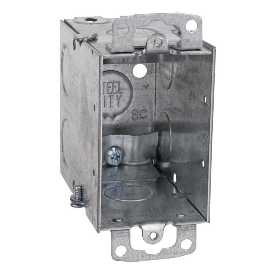 STEEL CITY 18-cu in 1-Gang Metal Old Work Wall Electrical Box