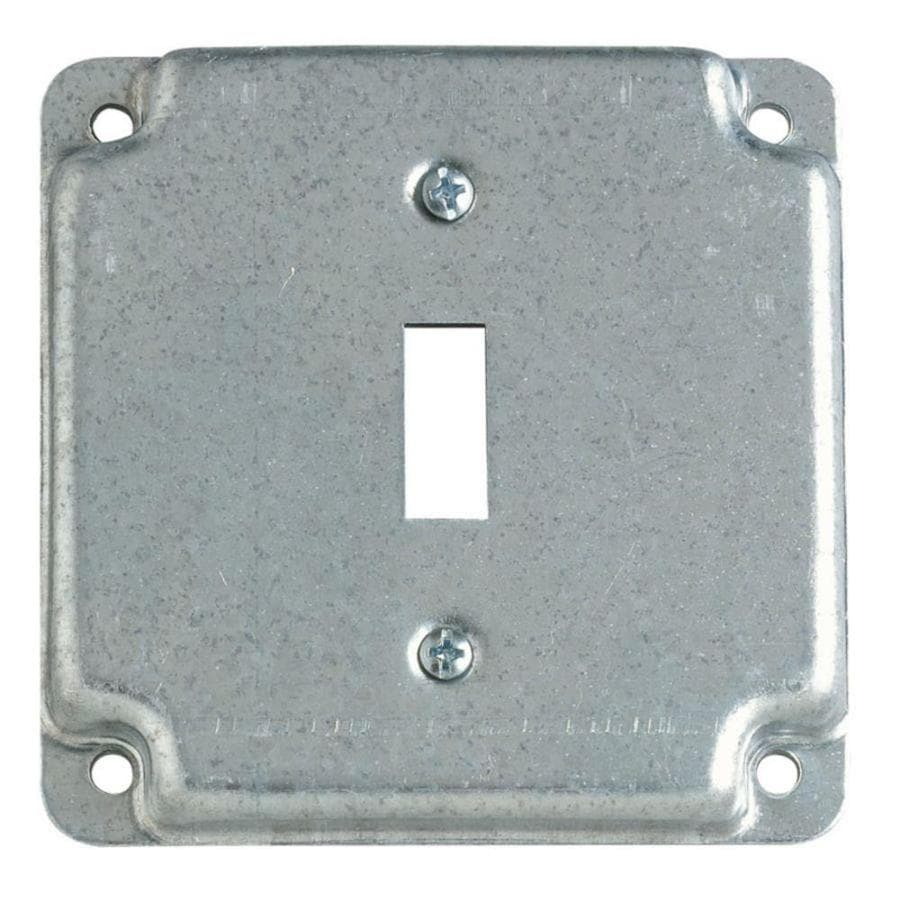 STEEL CITY 1-Gang Square Metal Electrical Box Cover