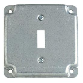STEEL CITY 1 Gang Square Metal Electrical Box Cover