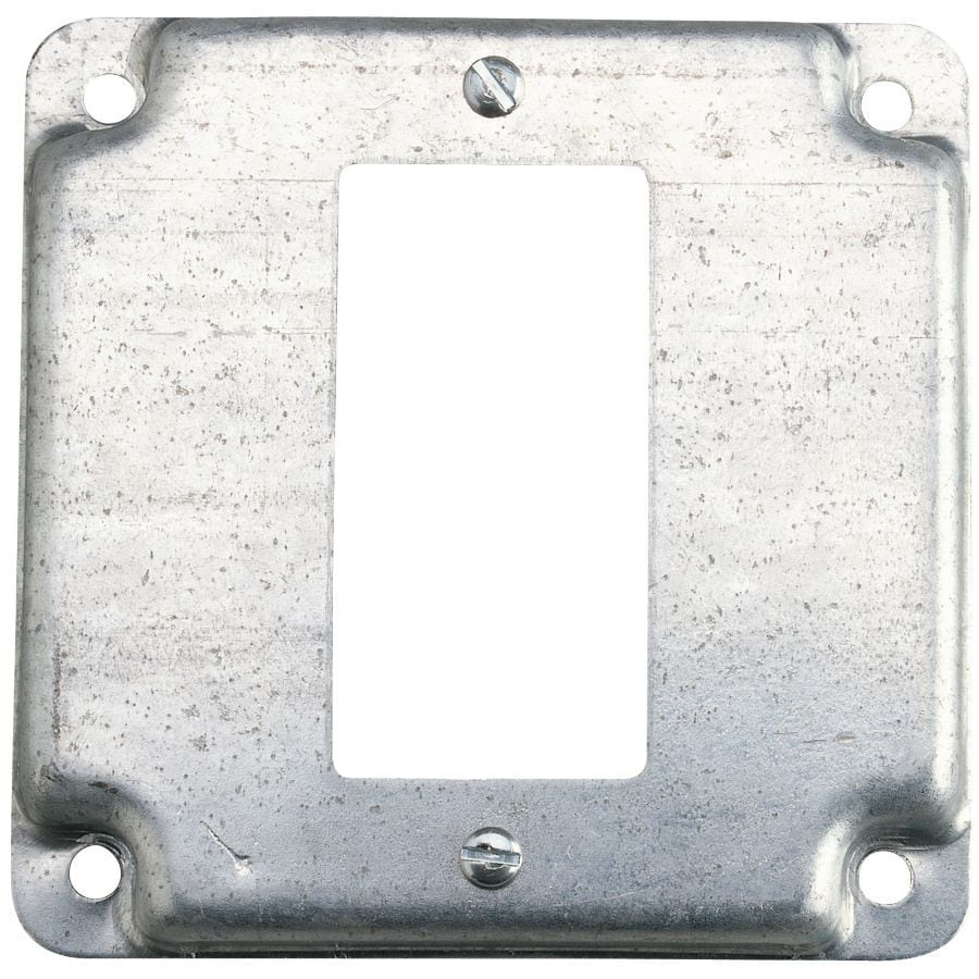 Shop Steel City 1 Gang Square Metal Electrical Box Cover
