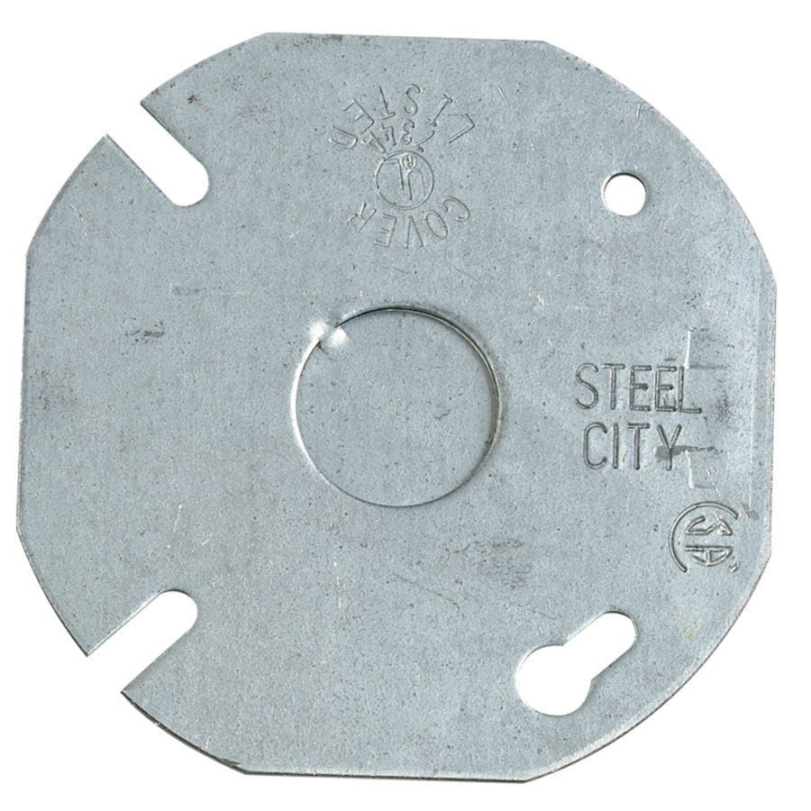 STEEL CITY 1-Gang Round Metal Electrical Box Cover