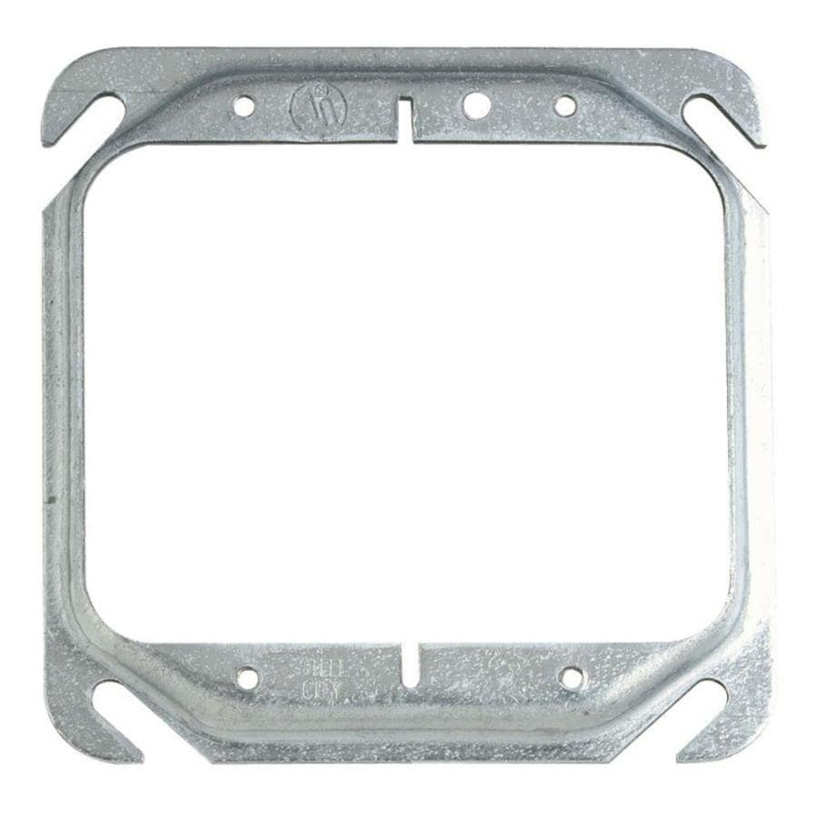 STEEL CITY 2-Gang Silver Metal Interior Old Work Standard Box Extender Wall Electrical Box