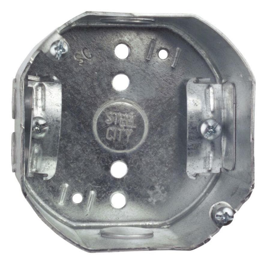 STEEL CITY 22.5-cu in Metal Round Wall Electrical Box