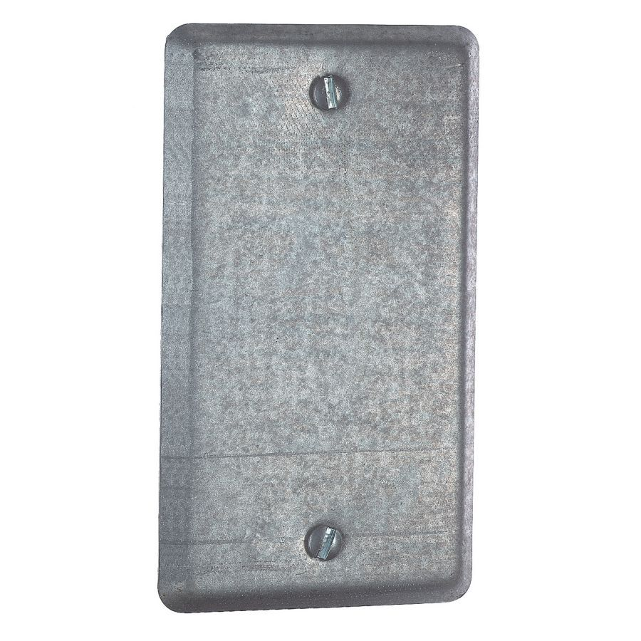 STEEL CITY 1-Gang Rectangle Metal Electrical Box Cover