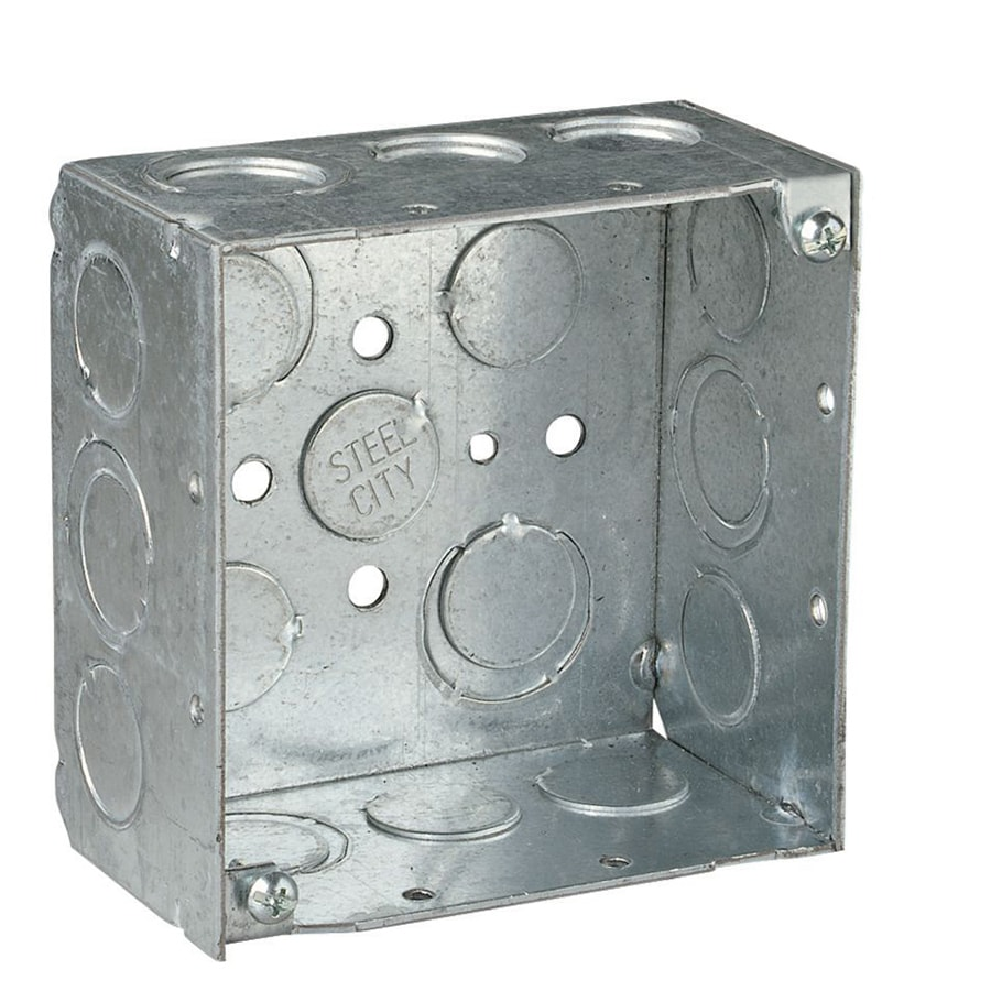 STEEL CITY 2-Gang Stainless Steel Metal Interior Old Work Standard Square Wall Electrical Box