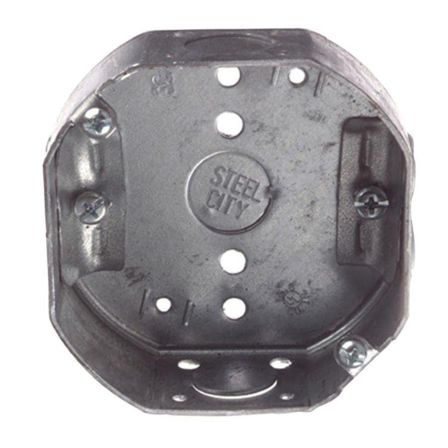 Shop Steel City 15 8 Cu In 1 Gang Metal Ceiling Electrical