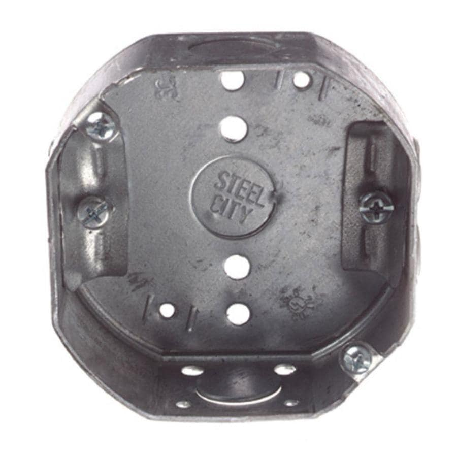 Shop Steel City 15 8 Cu In Metal Round Wall Electrical Box