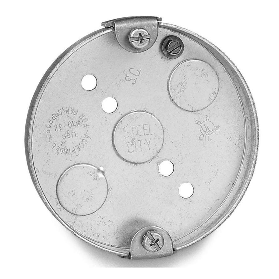STEEL CITY 1-Gang Stainless Steel Metal Interior Old Work Shallow Ceiling Pans Ceiling Electrical Box