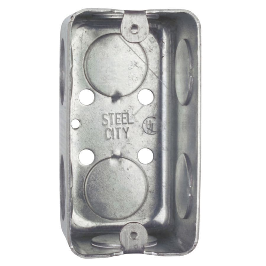 STEEL CITY 13-cu in 1-Gang Handy Metal Electrical Box
