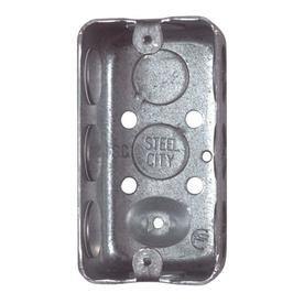 STEEL CITY 145 Cu In 1 Gang Metal Handy Wall Electrical Box