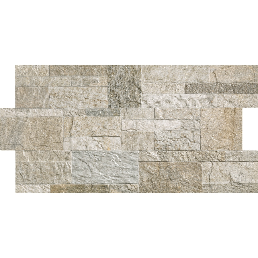 Shop Style Selections Rockstyle Silver Porcelain Wall Tile Common 12 In X 2