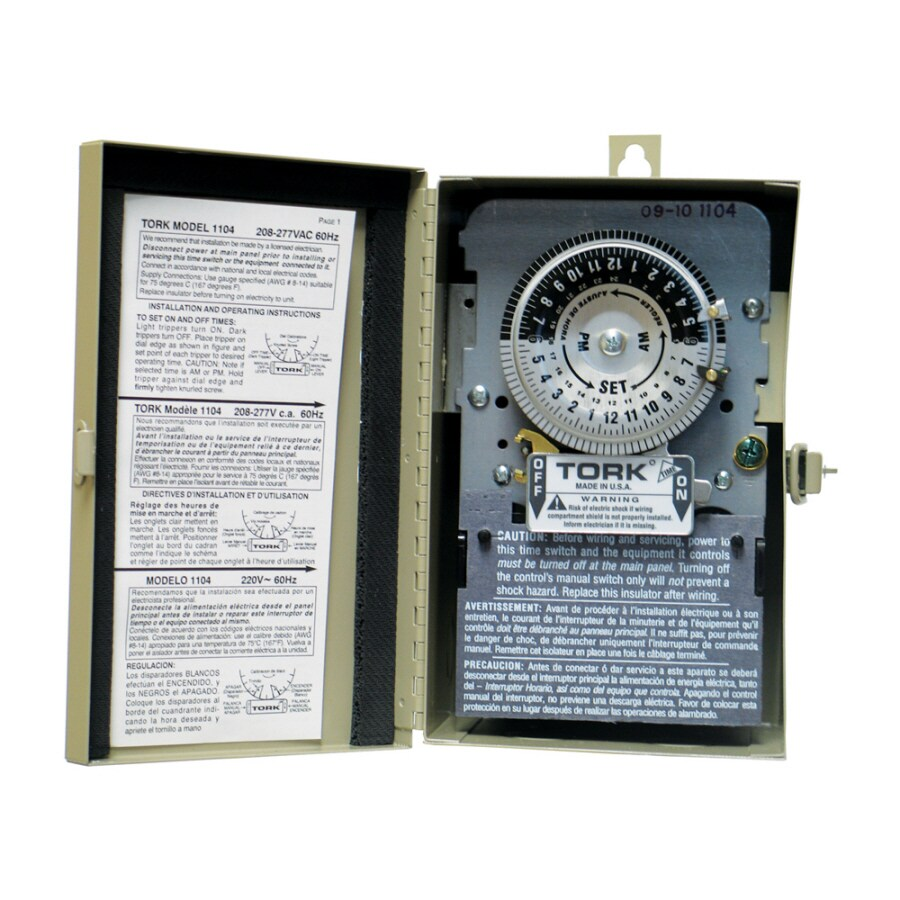 786261100177 shop tork 40 amp mechanical hardwired lighting timer at lowes com  at et-consult.org