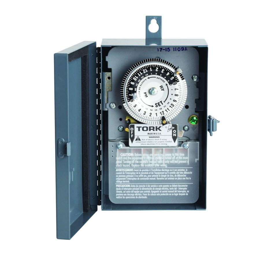 TORK Timers 40-Amp Mechanical Residential Hardwired Lighting Timer