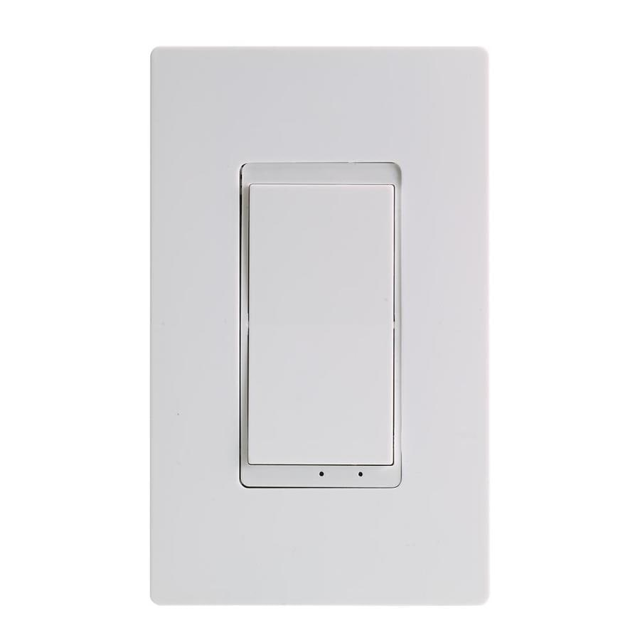 Tork 15 Amp Single Pole 3 Way White Toggle Light Switch With Wall Plate In The Light Switches Department At Lowes Com