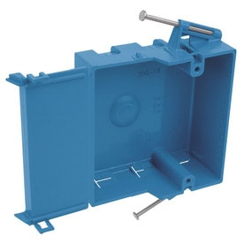 CARLON 1 Gang Blue Plastic Interior New Work Standard Square Wall Electrical Box