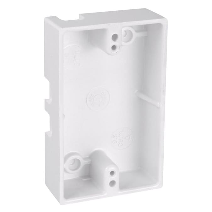Carlon 1 Gang White Plastic Old Work Shallow Handy Wall Electrical Box At Lowes Com