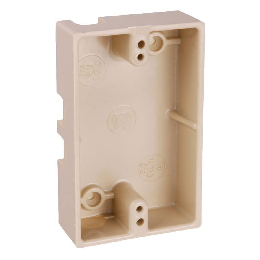 CARLON 1-Gang Off-white Plastic Interior Old Work Standard Switch/Outlet Wall Electrical Box