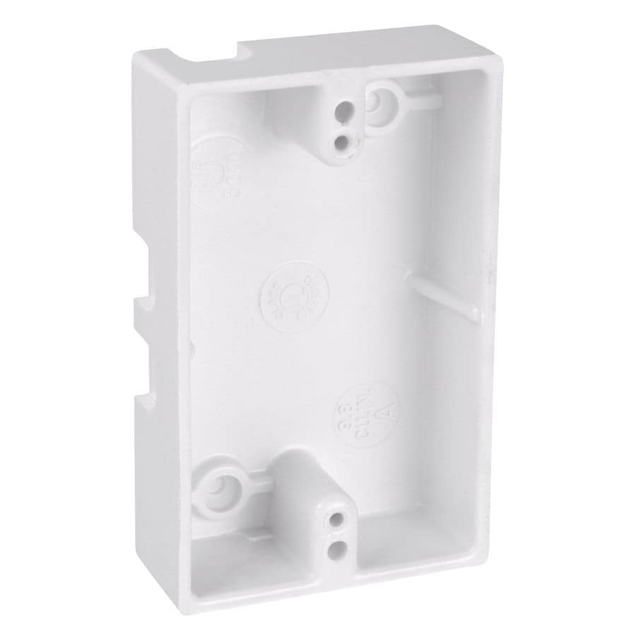CARLON 1-Gang White Plastic Interior Old Work Shallow Handy Wall Electrical Box
