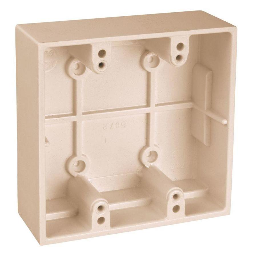 CARLON 2-Gang Off-white Plastic Interior Old Work Standard Rectangular Electrical Box