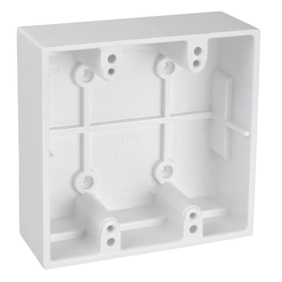 Carlon 2 Gang White Plastic Old Work Standard Square Wall Electrical Box In The Electrical Boxes Department At Lowes Com