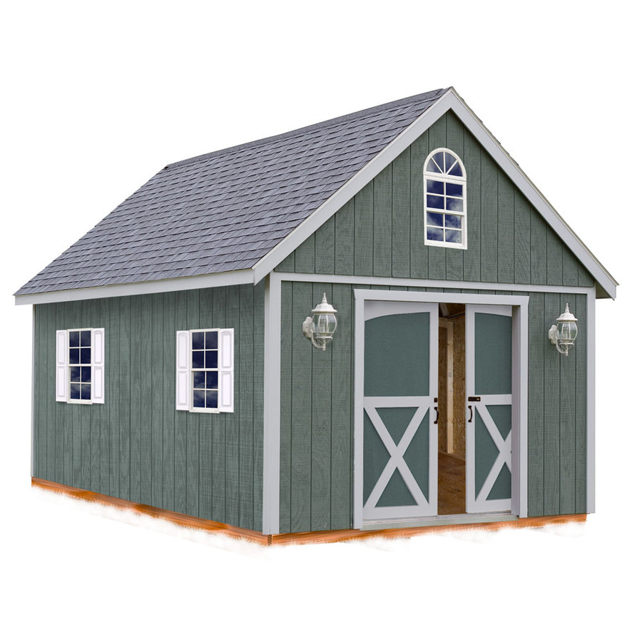 Best Barns (Common: 12-ft x 16-ft; Interior Dimensions: 11.42-ft x 15.17-ft) Brentwood without floor Gable Engineered Storage Shed (Installation Not Included)