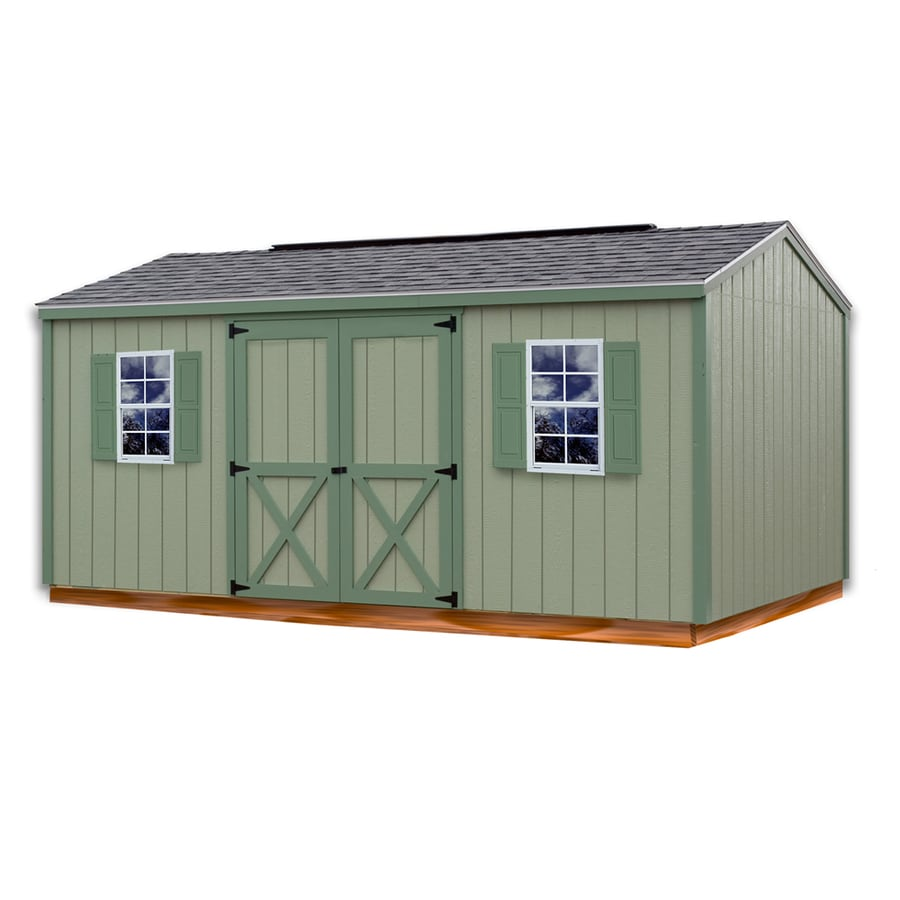 Best Barns (Common 10-ft x 16-ft; Interior Dimensions  sc 1 st  Loweu0027s & Shop Best Barns (Common: 10-ft x 16-ft; Interior Dimensions: 9.42-ft ...