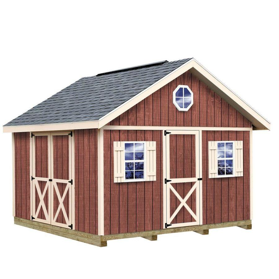 Best Barns Fairview Without Floor Gable Engineered Wood Storage Shed (Common: 12-ft x 12-ft; Interior Dimensions: 11.42-ft x 11.42-ft)