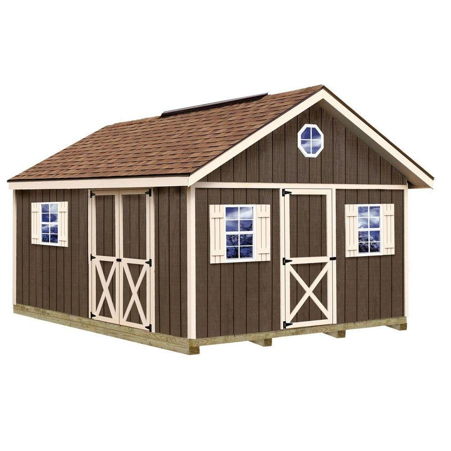 Best Barns (Common: 12-ft x 16-ft; Interior Dimensions: 11.42-ft x 15.42-ft) Fairview with Floor Gable Engineered Storage Shed (Installation Not Included)