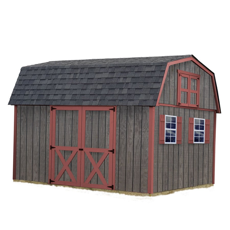 Best Barns (Common: 10-ft x 12-ft; Interior Dimensions: 9.42-ft x 11.17-ft) Meadowbrook without floor Gambrel Engineered Storage Shed (Installation Not Included)