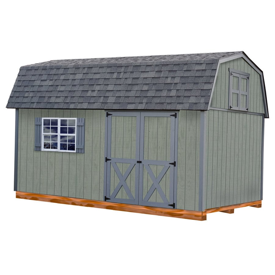 Best Barns (Common: 10-ft x 16-ft; Interior Dimensions: 9.42-ft x 15.17-ft) Meadowbrook with Floor Gambrel Engineered Storage Shed (Installation Not Included)