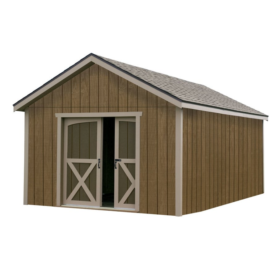 Best Barns (Common: 12-ft x 12-ft; Interior Dimensions: 11.42-ft x 11.42-ft) North Dakota Gable Engineered Wood Storage Shed