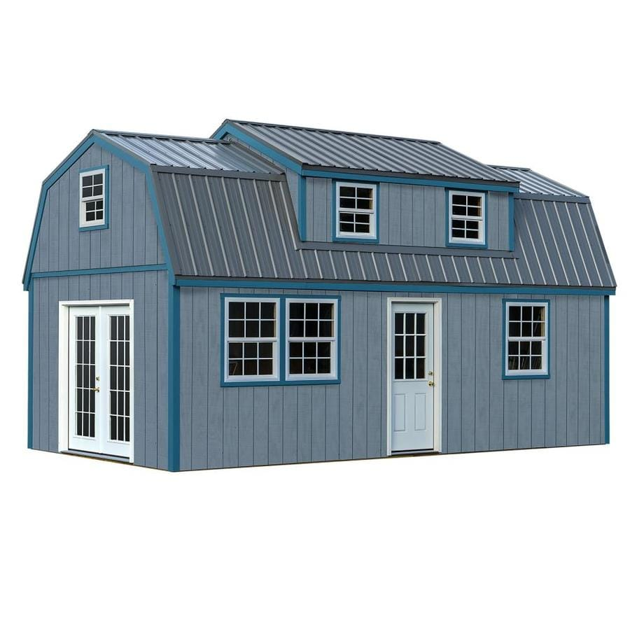 Best Barns Common 12 Ft X 24 Interior Dimensions 11 42 23 Lakewood Gambrel Engineered Storage Shed