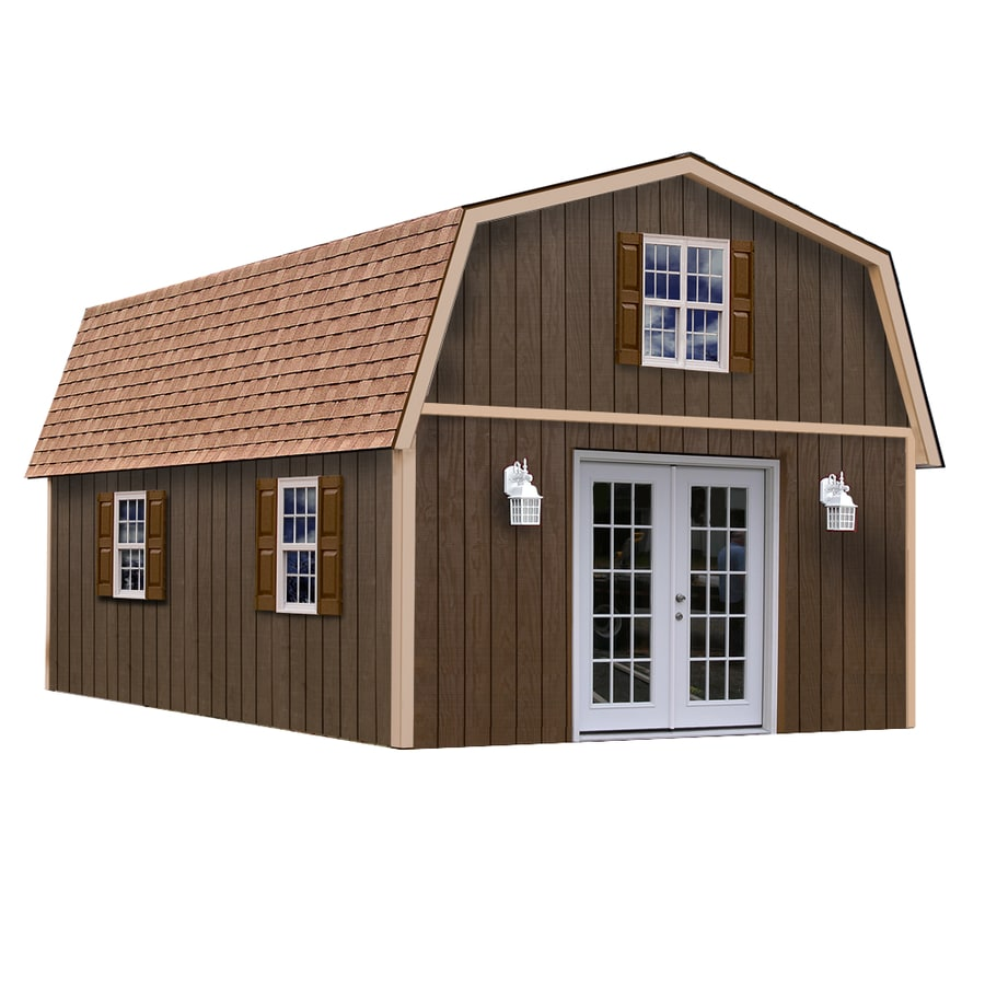 Best Barns Richmond Without Floor Gambrel Engineered Wood Storage Shed (Common: 16-ft x 28-ft; Interior Dimensions: 15.42-ft x 27.42-ft)