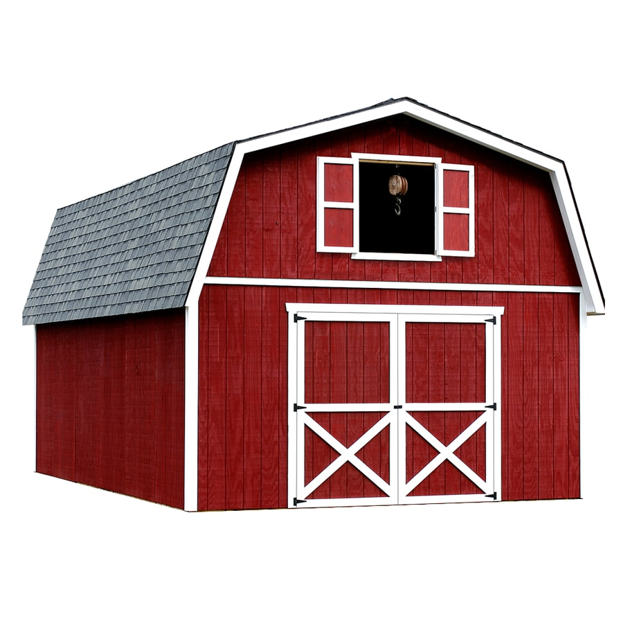 Best Barns Roanoke Without Floor Gambrel Engineered Wood Storage Shed (Common: 16-ft x 24-ft; Interior Dimensions: 15.42-ft x 23.42-ft)