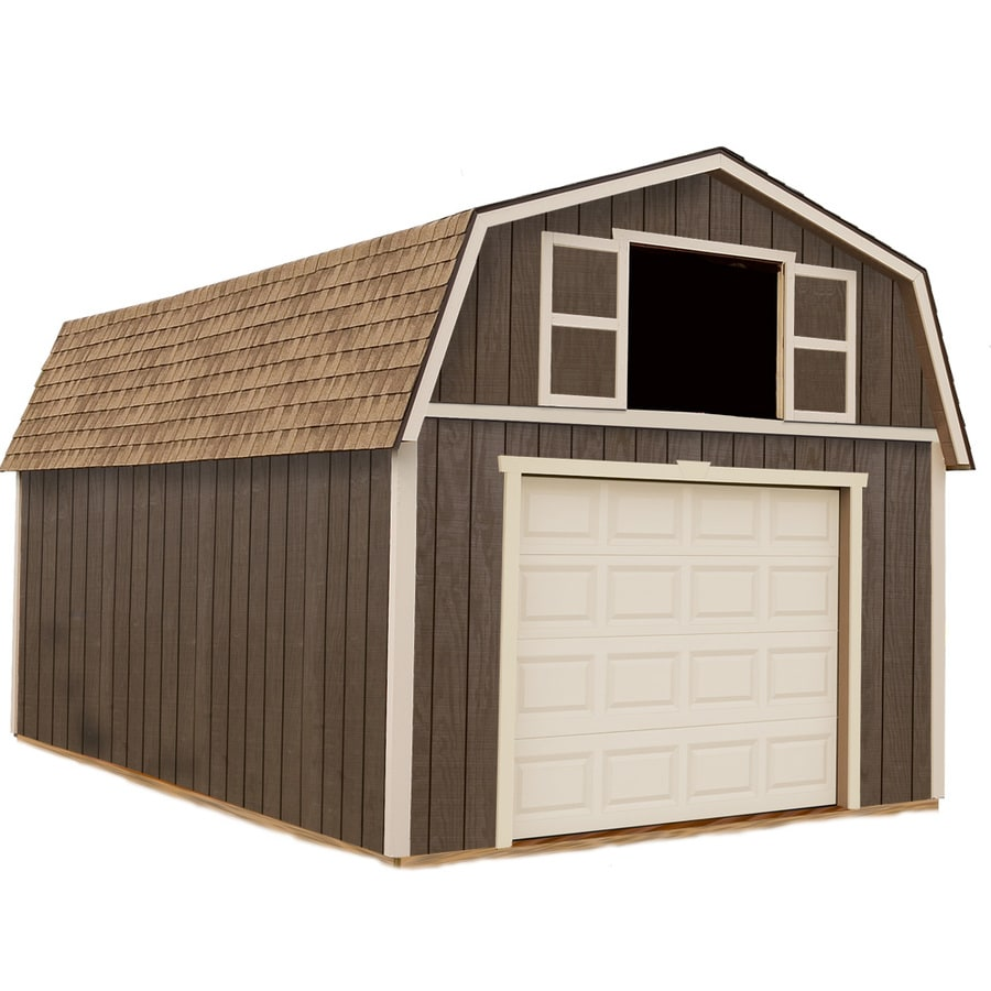 Best Barns (Common: 12-ft x 20-ft; Interior Dimensions: 11.42-ft x 19.42-ft) Tahoe without floor Gambrel Engineered Storage Shed (Installation Not Included)
