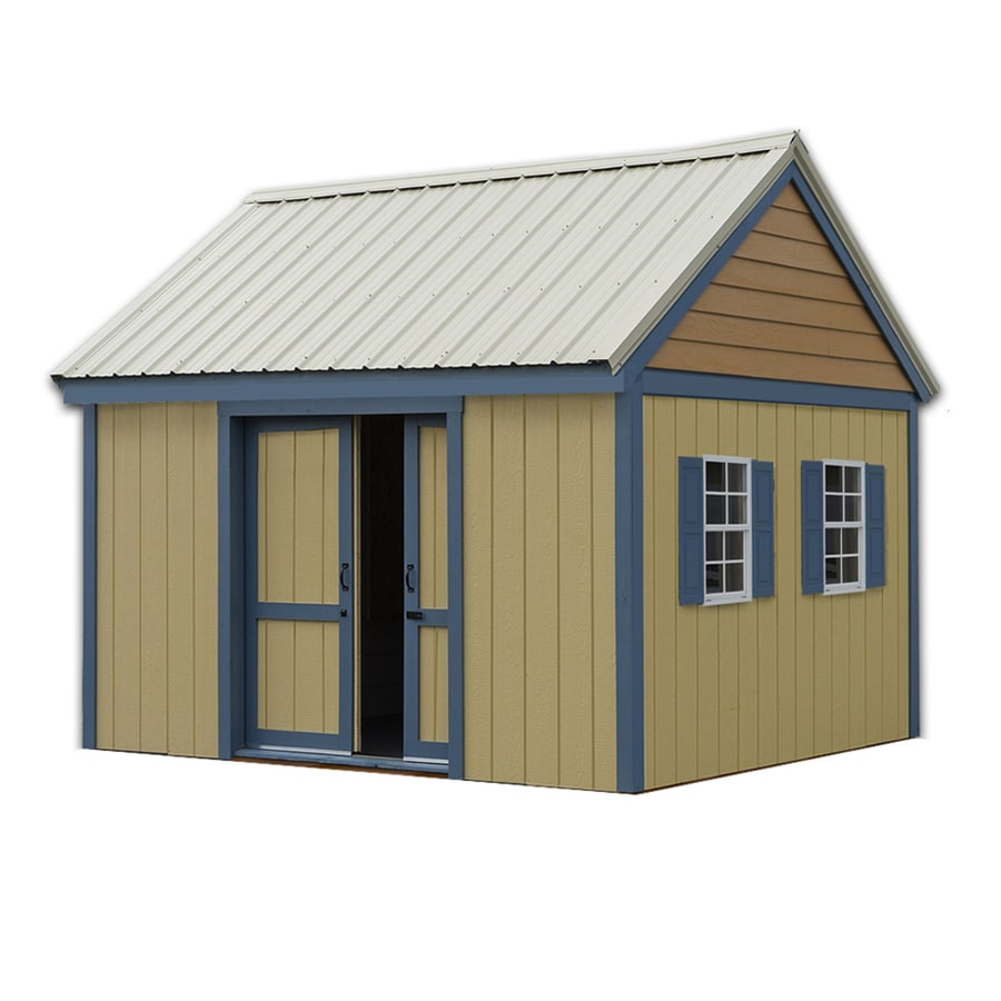 Best Barns Brookhaven Without Floor Gable Engineered Wood Storage Shed (Common: 10-ft x 12-ft; Interior Dimensions: 9.42-ft x 11.42-ft)