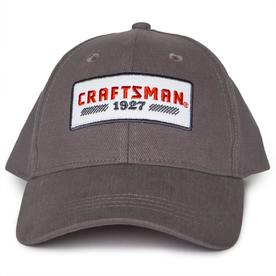 69b8dc2f68983 CRAFTSMAN One Size Fits Most Men s Gray Cotton Baseball Cap