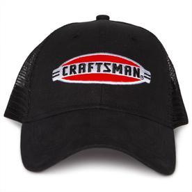 d794e529 CRAFTSMAN One Size Fits Most Men's Black 70/30 Cotton/Poly Baseball Cap