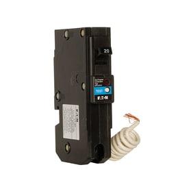 Eaton Type Br 20-Amp 1-Pole Dual Function AFCI/GFCI Circuit Breaker