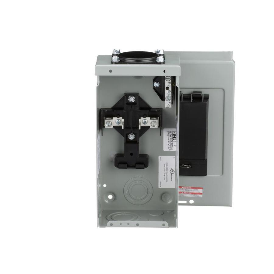 Eaton 4-Circuit 2-Space 70-Amp Main Lug Load Center