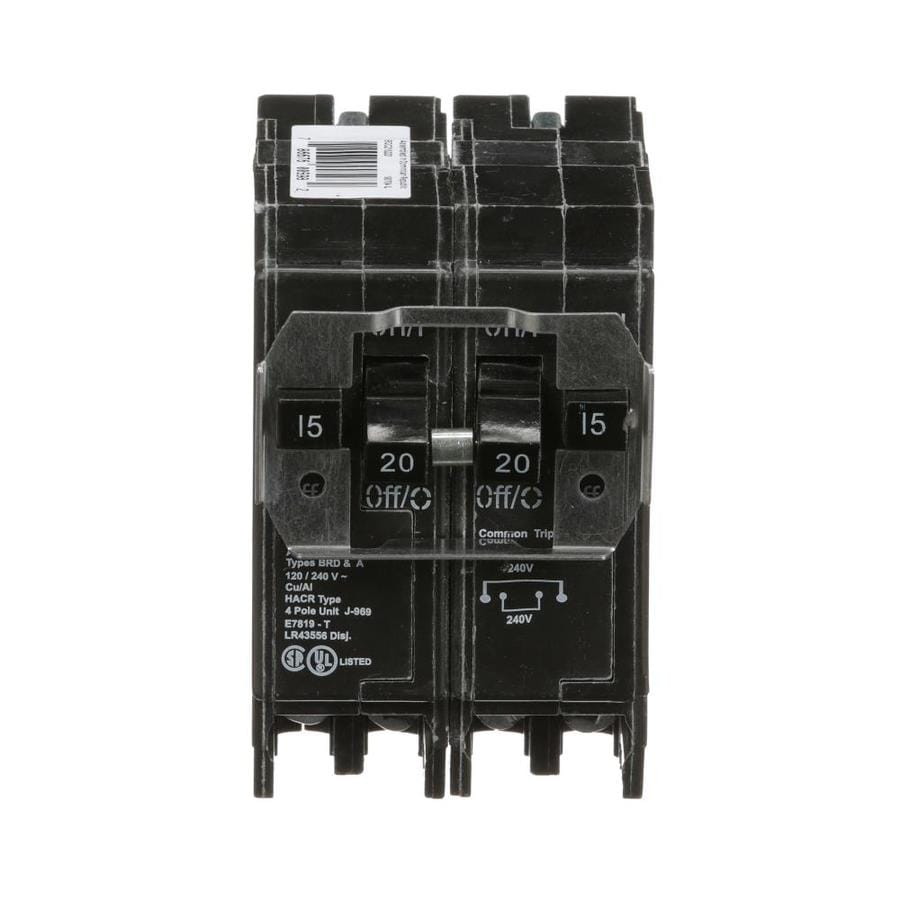 Eaton Type BR 20-Amp 2-Pole Quad Circuit Breaker