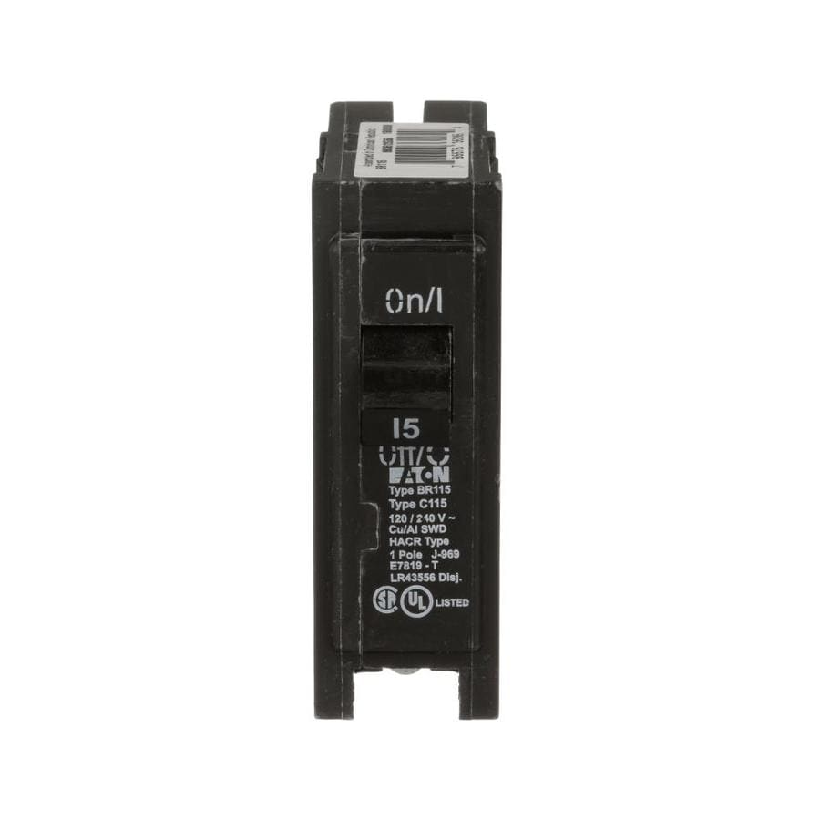 Eaton Type Br 15-Amp 1-Pole Standard Trip Circuit Breaker at Lowes com