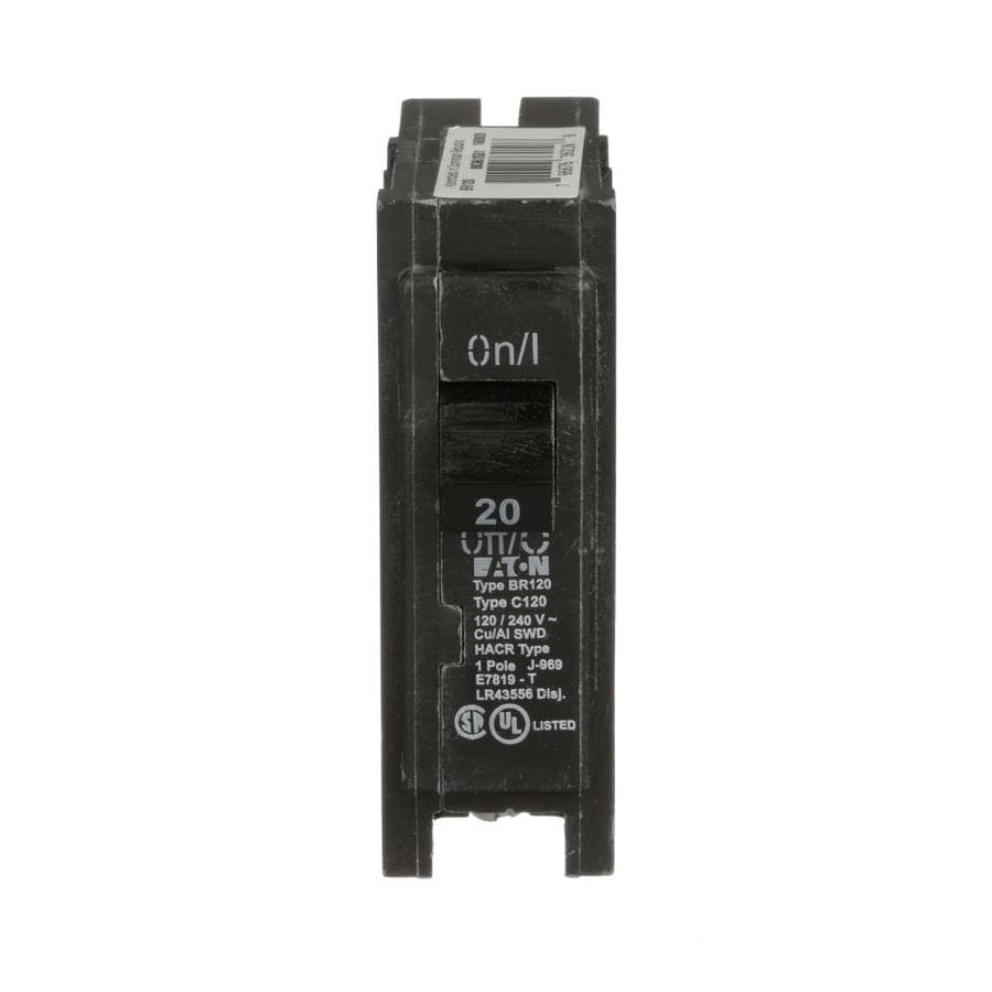 Shop Eaton Type Br 20 Amp 1 Pole Standard Trip Circuit Breaker At What Should Be Used A Gfci Or Is 15