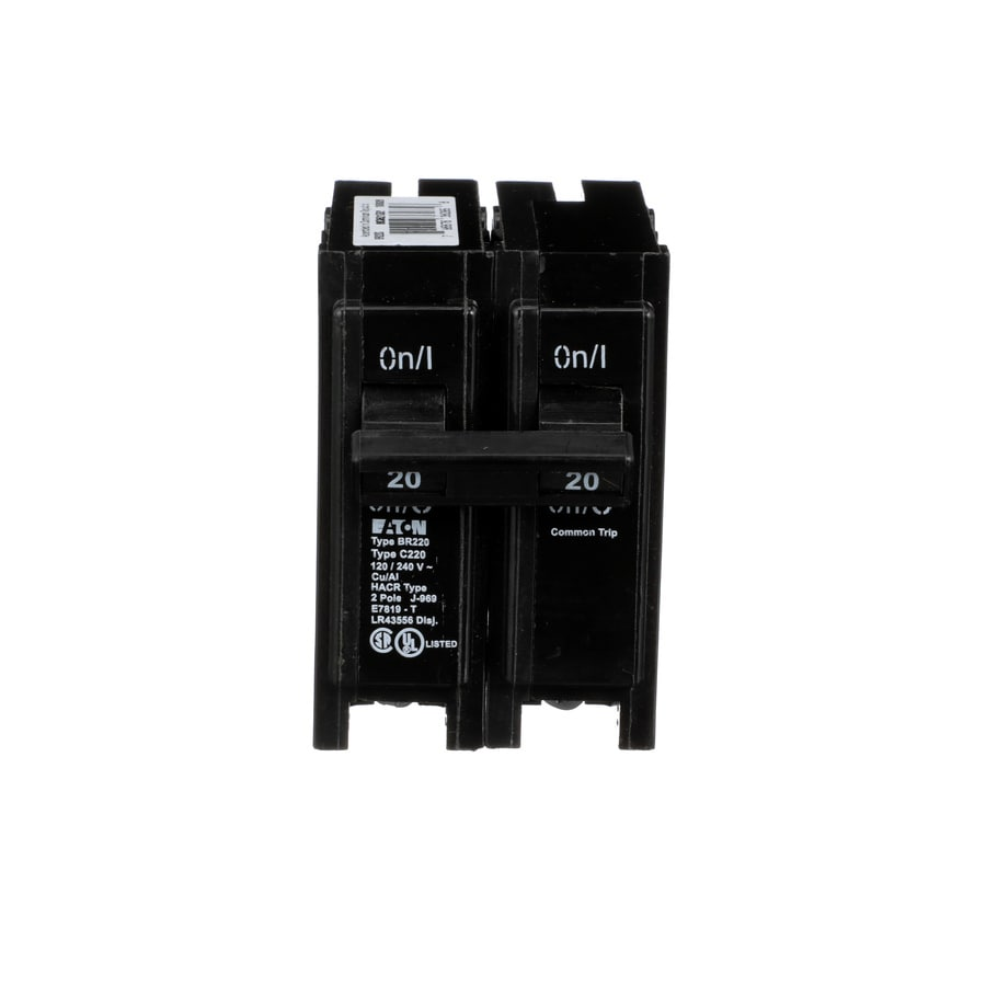 Eaton Type BR 20-Amp Double-Pole Circuit Breaker