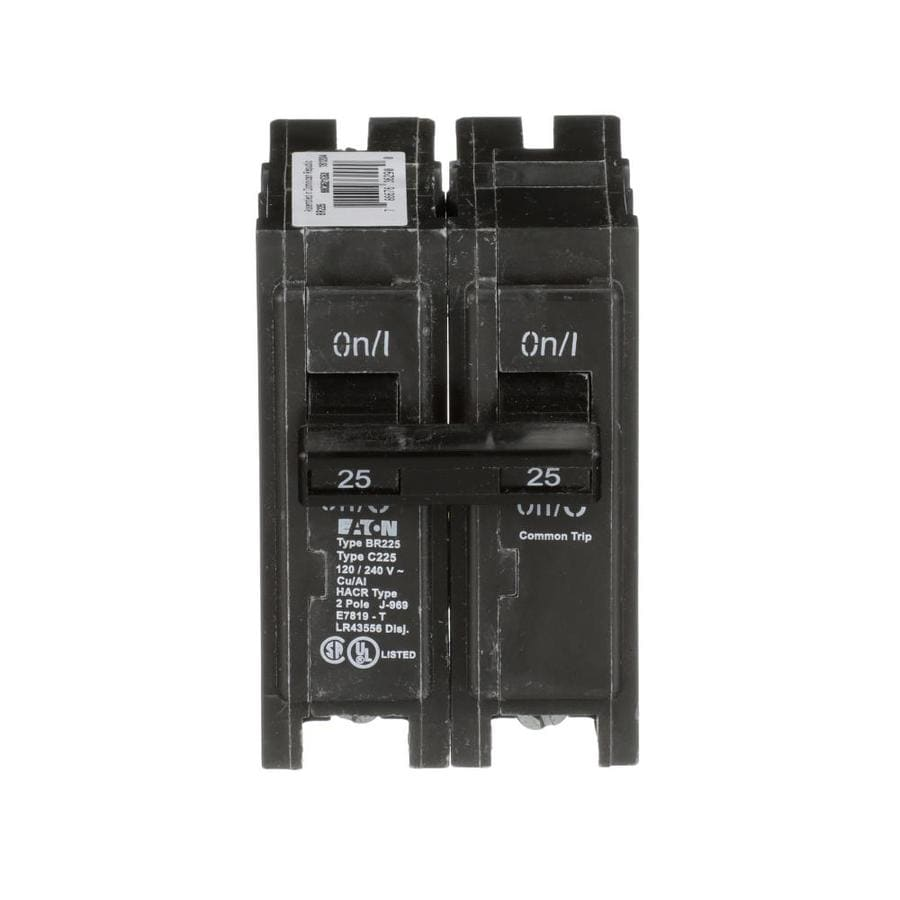 Eaton Type BR 25-Amp 2-Pole Double-Pole Circuit Breaker